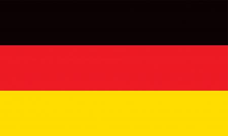 Wektor, Republika Federalna Niemiec flaga Ilustracje wektorowe