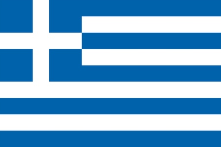 Vector national Greece flag Illusztráció