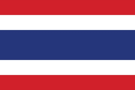 Vector Kingdom of Thailand flag Illustration