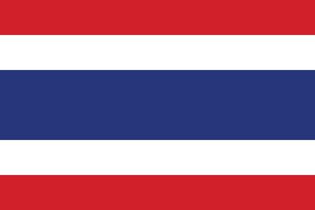 thai flag: Vector Kingdom of Thailand flag Illustration