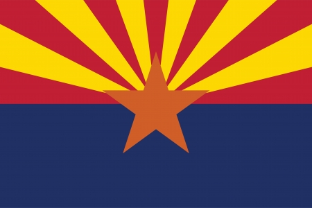 State of Arizona flag Vector