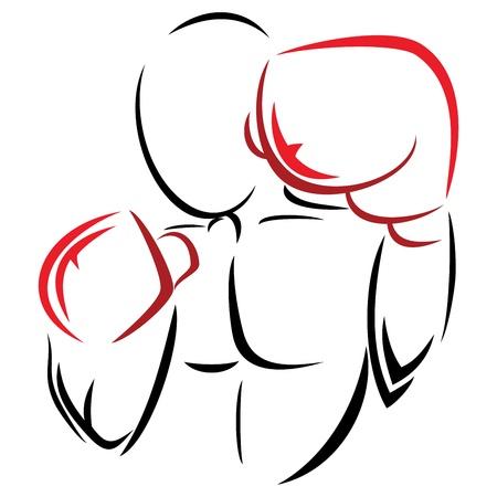 guantes de boxeo: S�mbolo boxeador
