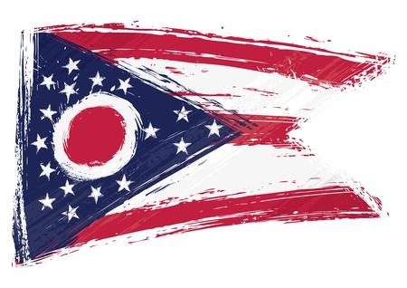 ohio: Grunge Ohio flag