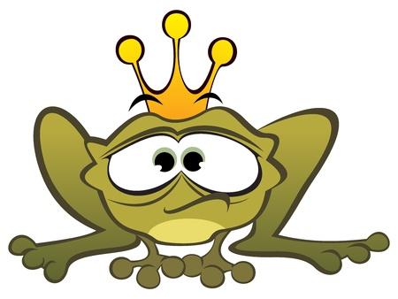 Depressed frog Ilustrace
