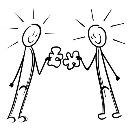 work together: Putting puzzel bij elkaar