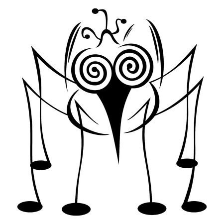 hypnosis: Crazy mosquito Illustration