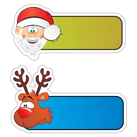Christmas stickers Stock Vector - 16260630