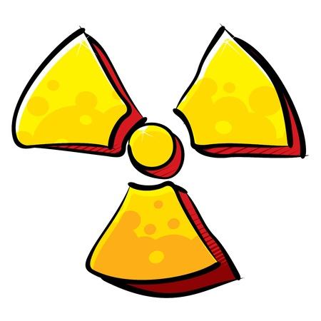 hazardous area sign: Radioactivity sign Illustration