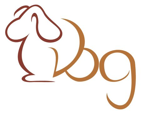 Dog symbol Illustration