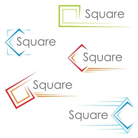 Iconos cuadrados Ilustración de vector