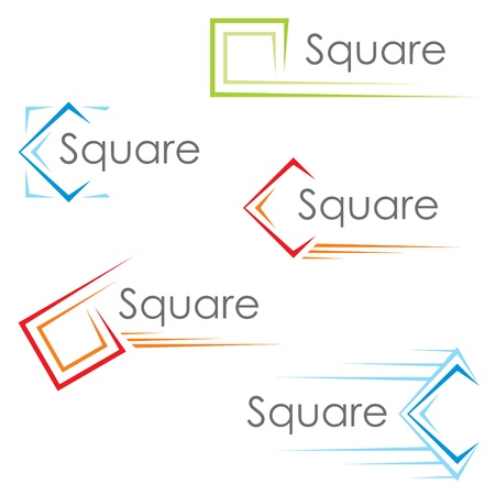Square icons Stock Vector - 16550301