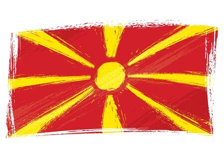 Grunge Mazedonien-Flagge