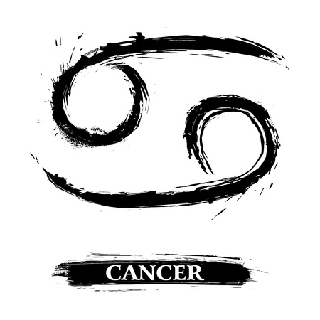 zodiac signs: Cancer symbol Illustration