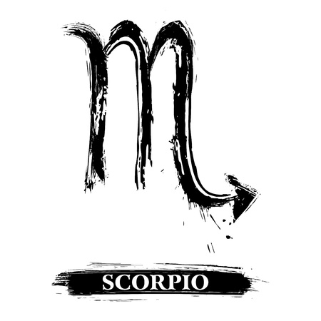 horoscopes: Scorpio symbol Illustration