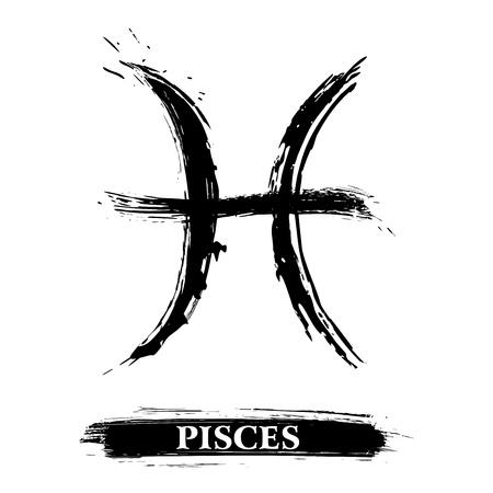 Het symbool van Vissen Stock Illustratie