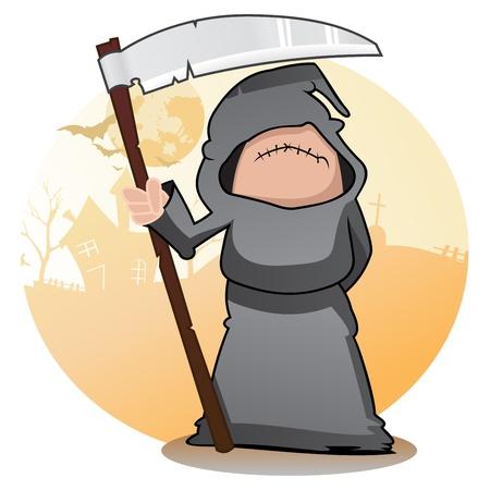 guadaña: Cartoon Grim Reaper