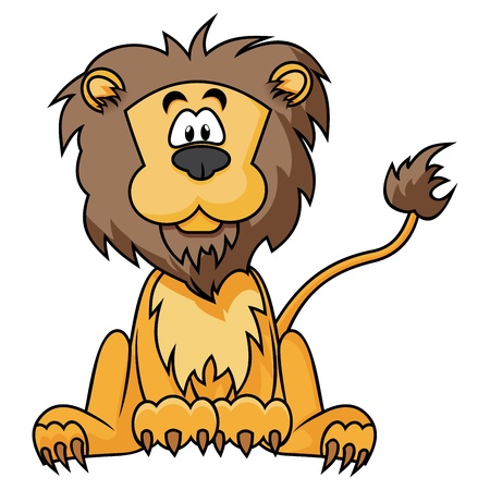 Cute Lion Stock Vector - 16611196