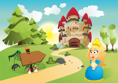 The princess and her kingdom Stock Vector - 16924553