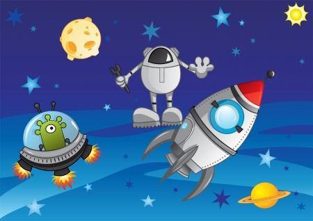 Adventure in cosmos Stock Vector - 16924552