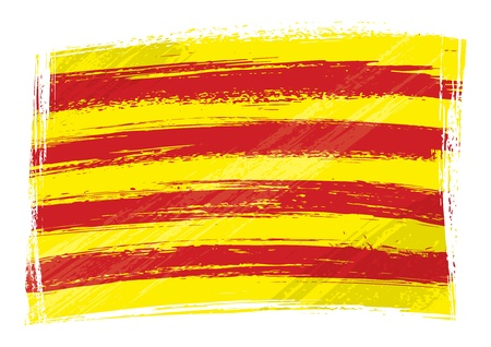 Grunge Catalonia flag