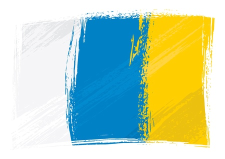 canary islands: Grunge Canary Islands flag