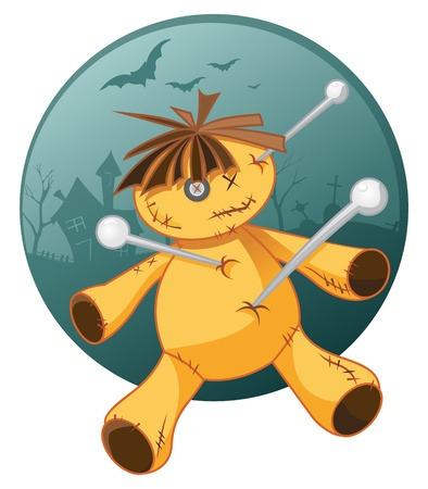 Voodoo doll: Voodoo doll Illustration