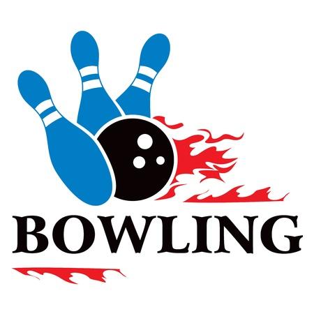 bolos: Bowling símbolo Vectores