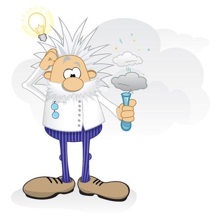 explosie: Genie aan het werk Stock Illustratie