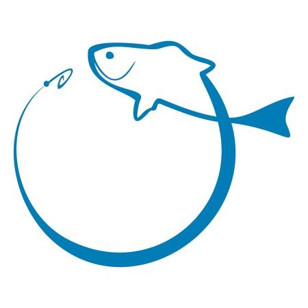 vis: Vissenteken Stock Illustratie
