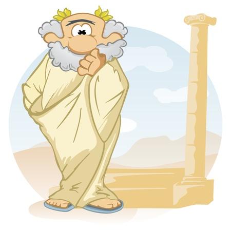 ancient civilization: Cartoon thinker