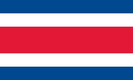 costa rica flag: Costa Rica flag Illustration