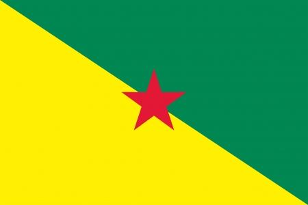 Francés Guayana bandera Foto de archivo - 18260506