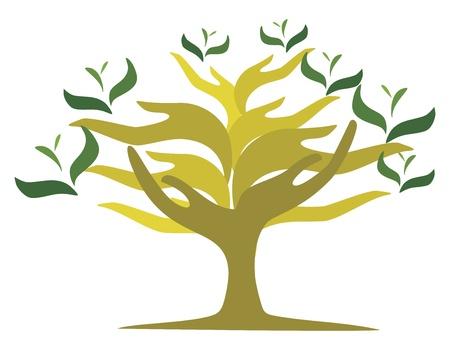 Tree of open hands