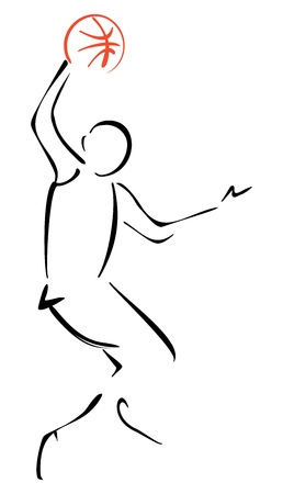 Basketball player Stock Vector - 18976820