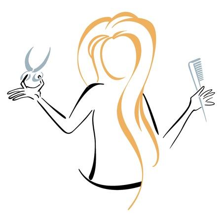 scissors and comb: Barber symbol