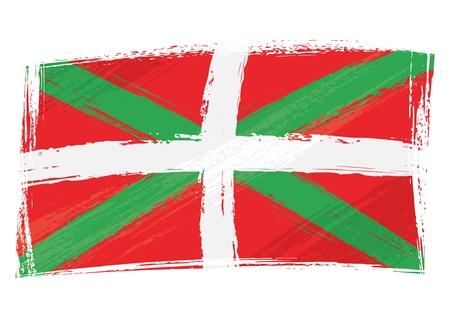 autonomia: Grunge bandera de Pa�s Vasco
