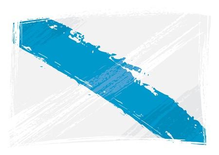 galicia: Grunge Galicia flag Illustration