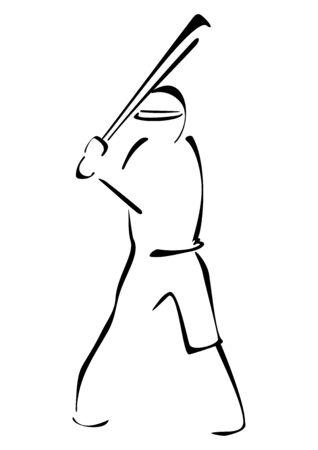 Baseball striker Stock Vector - 19095345
