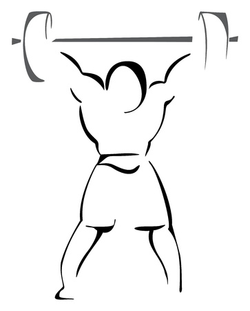 weight lifter: Weight lifter Illustration