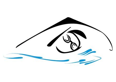 swim race: Nataci�n s�mbolo