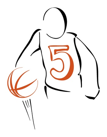 Basketball player Stock Vector - 19716512