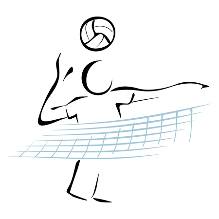 Volleyball player Stock Vector - 19716505