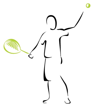 Tennis player Stock Vector - 19716513