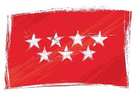madrid: Grunge Community of Madrid flag
