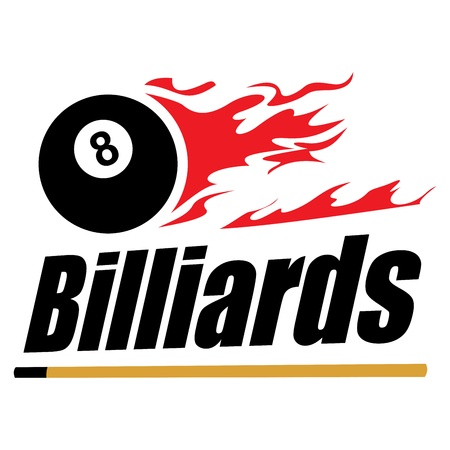 pool cue: Billiards symbol Illustration