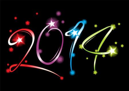 New Year 2014 Illustration