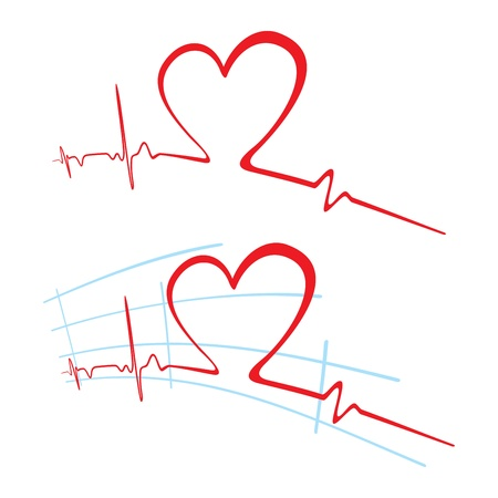ecg heart: EKG of love