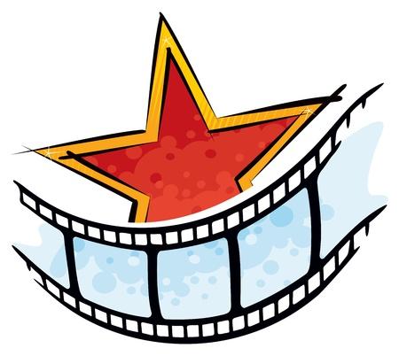 hollywood movie: Cinema symbol Illustration