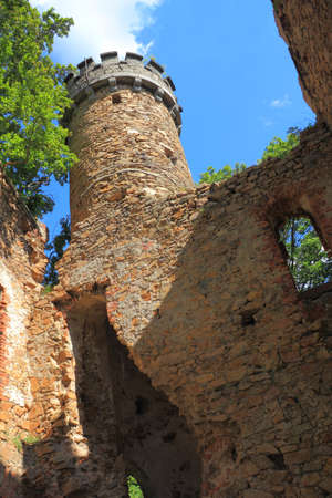 henry: Ruins of old Henry castle at mountain Grodna, Poland