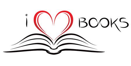 I love books Vettoriali